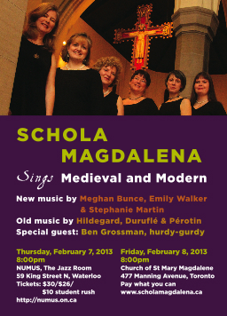 Schola Magdalena sings medieval and modern