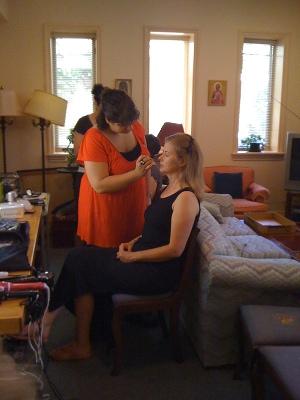 Stephanie Martin gets her makeup